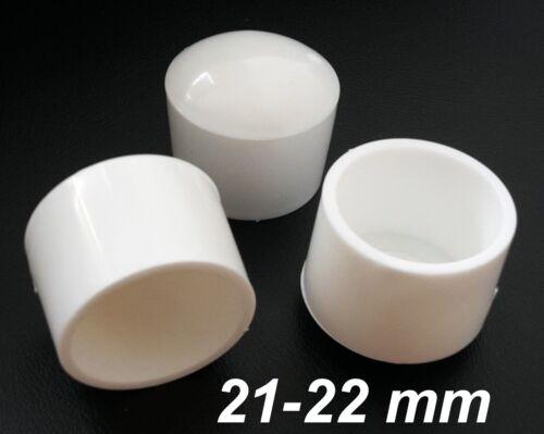 Ø 21-22 mm Stuhlbeinkappe Weiß rund Kappe Rohr-kappe Gartenstuhl Stuhlkappe Neu
