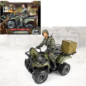 World pacificatori Esercito Militare 12 pollici ATV veicolo toy playset con la figura