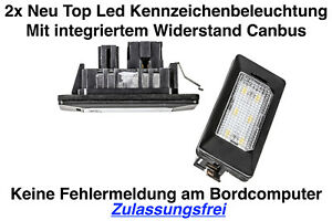 2x TOP LED Module Kennzeichenbeleuchtung Audi A4 Allroad 8KH B8 (ADPN