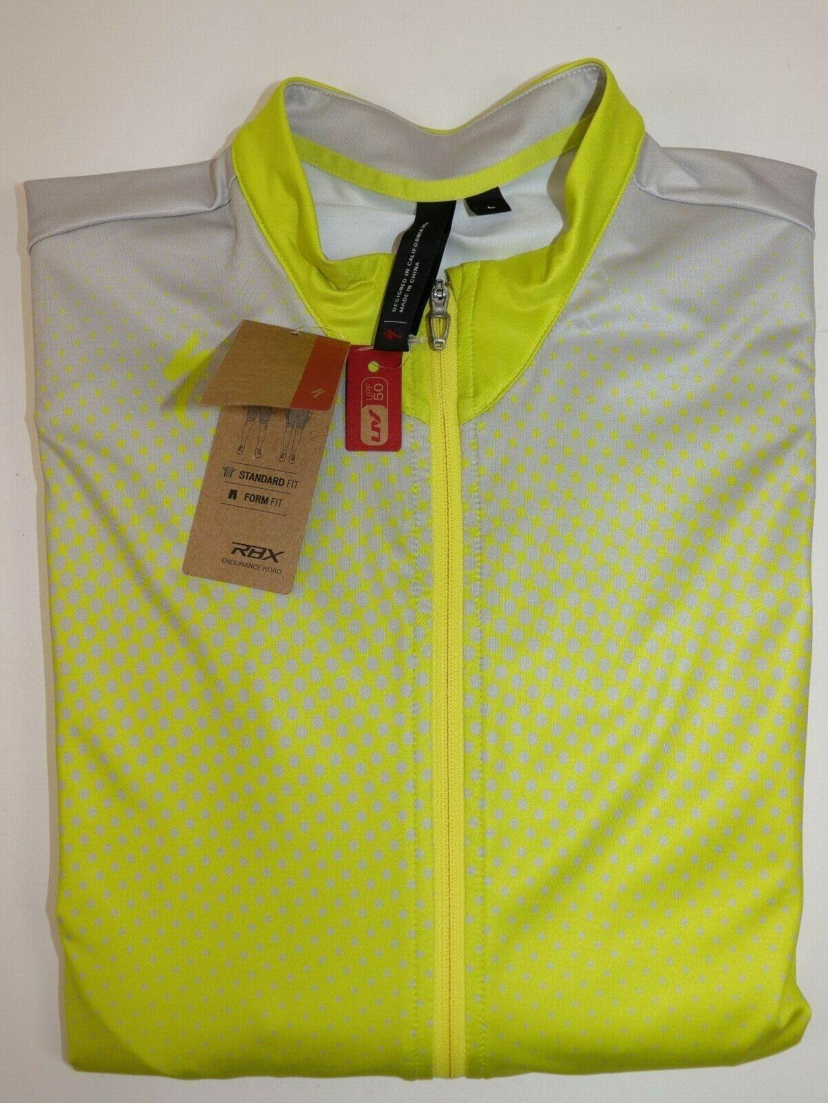 Nuevo con etiquetas especializado Talla L para Mujer Manga Corta Amarillo gris Rbx Comp para Ciclismo Jersey