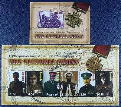 Design; 2019 Neuer Stil Grenada 2007 Viktoriakreuz Victoria Cross Militär Soldaten 5935-40 Block769 Mnh Novel In