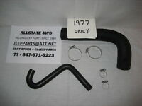 CJ GAS TANK FUEL FILLER & VENT HOSES WITH CLAMPS, 1977 CJ CJ5 CJ7