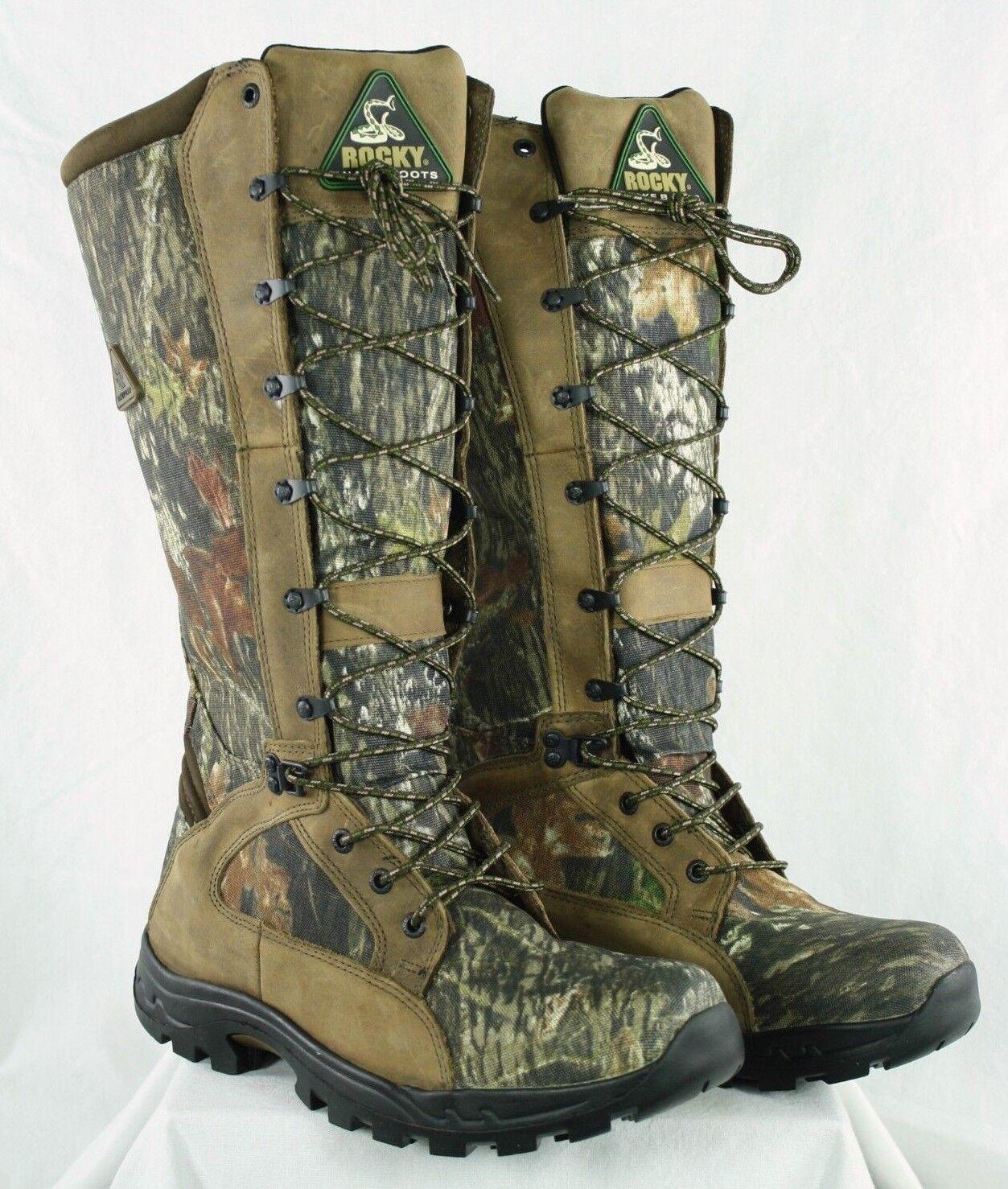 Rocky 1570 Impermeable snakeproof Mossy Oak Camo Caza botas para hombres
