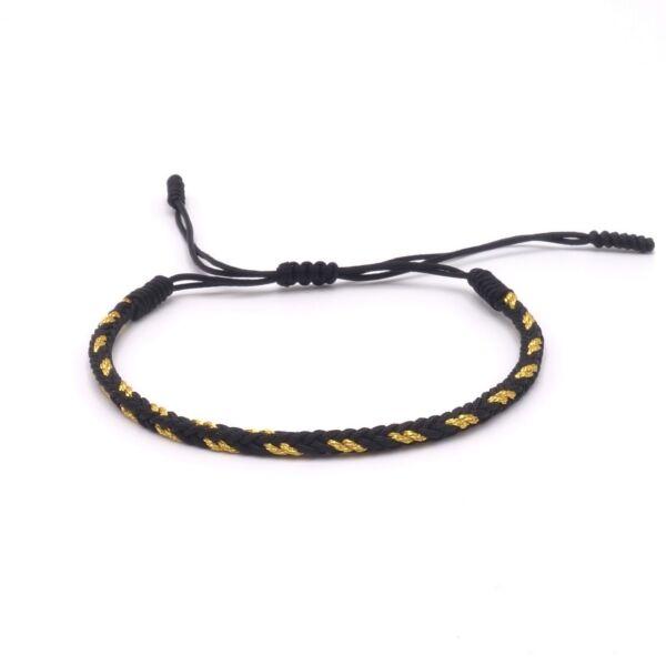 Benava Tibetisches Armband Glücksarmband – Freundschaftsarmband Geflochten