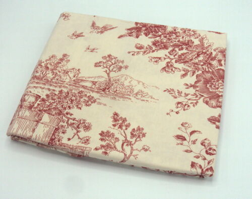 Details about  /Toile de Jouy Pillowcases available in Blue or Pink £7.99 Pair