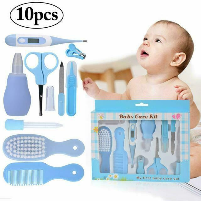 10Pcs/Set Baby Health Care Set Newborn Kit Nail Brush Hair Thermometer Kids