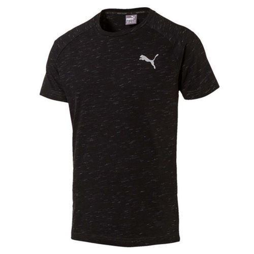 Puma EvoStripe Spaceknit DryCell Mens Cotton Black Top T Shirt 590624 01 DD55
