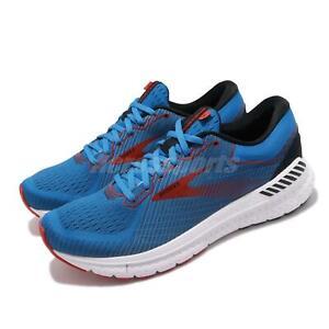 Brooks-Transcend-7-Blue-Red-White-Men-Running-Training-Shoes-Sneakers-110331-1D