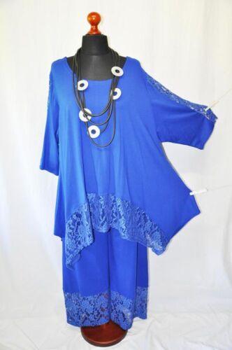 di lana Pantaloni Xl xxl con blu pizzo reale xxxl jersey a approccio strati in wrEEqZt
