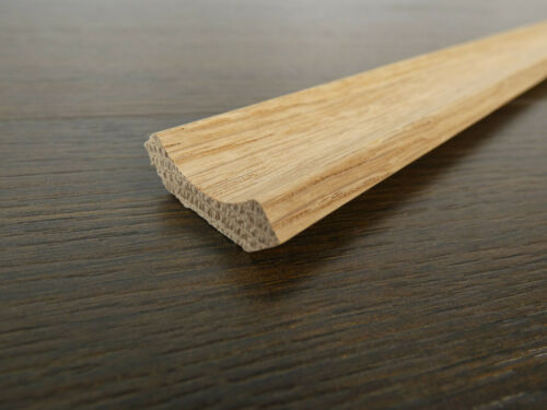 10 Hohlkehlleisten Eiche massiv 20x20x1150mm lackiert unbehandelt Holzleisten