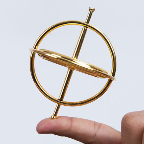 Classic Metal Gyroscope Gyro Pressure Relieve Speed Balance Educational Toy Gift