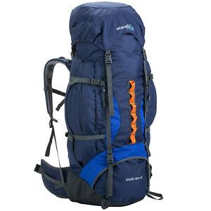 skandika Eiger 80+10 Litres Sac à dos Randonnée Trekking Marche Bleu NEUF