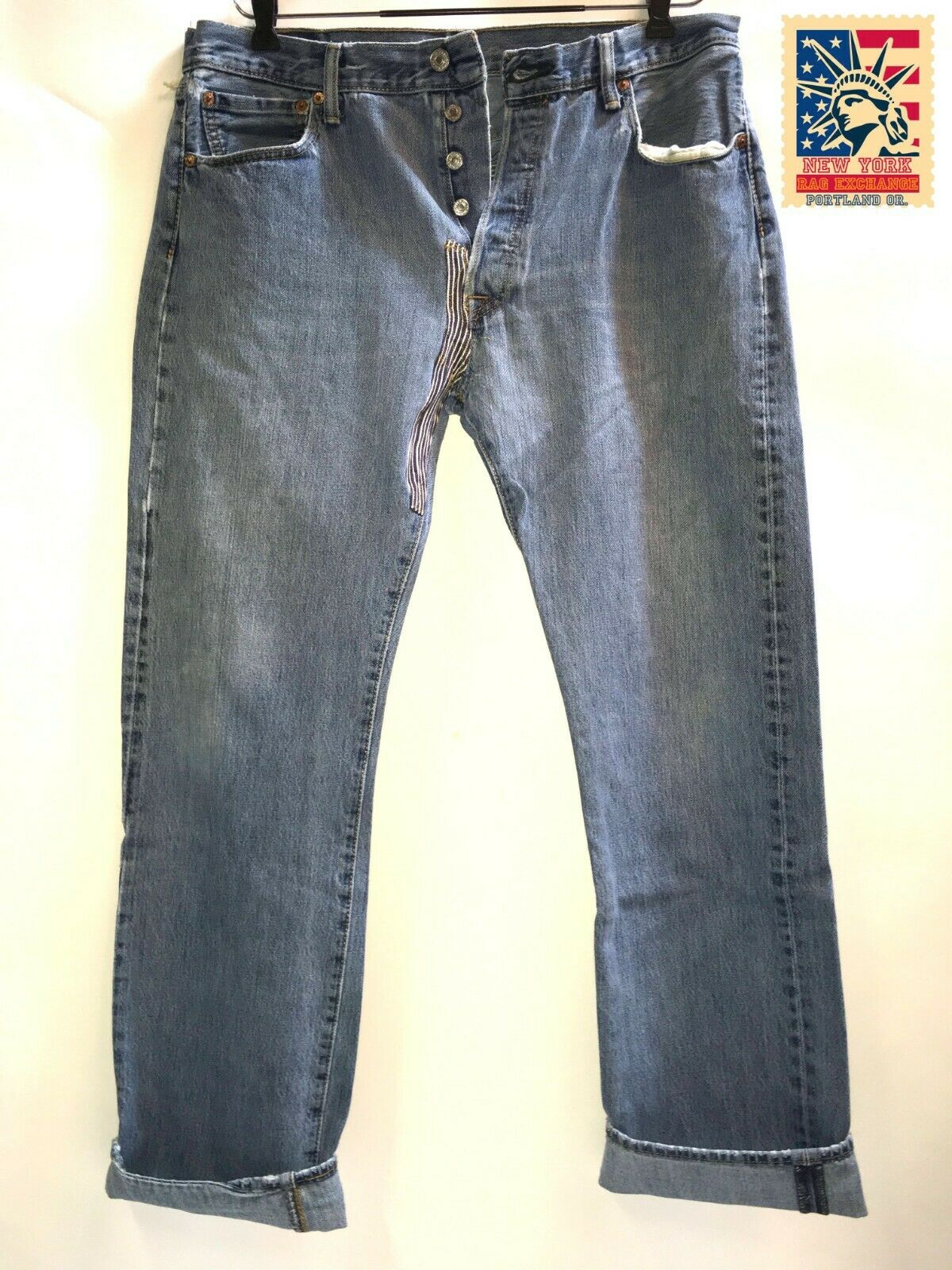 Levi's 501 Jeans Distressed Work Denim W36 x L32 … - image 1