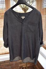 J.JILL DENIM Chambrey Shirt Tunic Size XS Excellent Condition