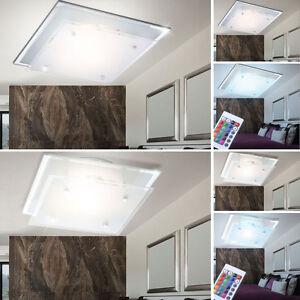 rgb led deckenlampe esszimmer fernbedienung spiegelrand k chen leuchte dimmbar ebay. Black Bedroom Furniture Sets. Home Design Ideas