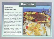 carte postale illustrée baudroie a la mediterranéenne  - photo et recette