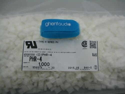 5 sets JST PHR-4 HOUSING with crimp contact SPH-002T-P0.5S 4WAY, 2.0 MM