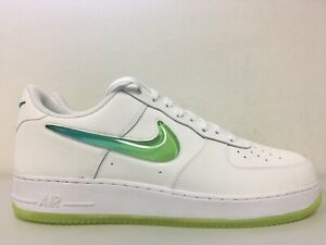 Details about Nike Air Force 1 07 PRM 2 Jelly Swoosh White Volt Hyper Jade AT4143 100 Size 16