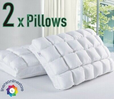 24 Pocket Pleated Pillow MicroFibre Bamboo Soft Neck Support Anti Bacterial