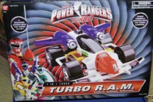Power rangers turbo r.a.m. roboter - arsenal mobilizer 7 waffen morph - ram - speicher mib