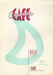 1950s CAFE CARAVAN Restaurant Menu, Grand Junction, Colorado