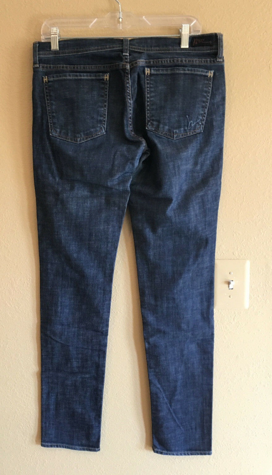New CITIZENS OF HUMANITY 31 Skinny Jeans Stretch Dark bluee Wash Denim USA Avedon