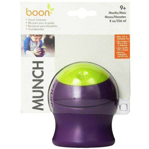 Boon Munch Snack Container (Green/Purple)