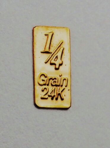 6 X GOLD BULLION PURE 24 CARAT.999 FINE BARS C26aSHIPS FREE IF YOU BUY 2 OR MORE