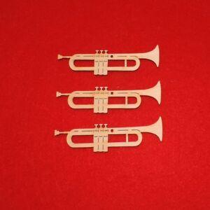 Trompete Aus Holz 10 Cm 3er Set Musikinstrument Geschenk
