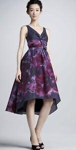 NWT-Neiman-Marcus-Dress-Size-8-Lela-Rose-Watercolor-Purple-Party