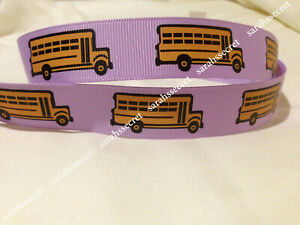 1 Metre School Bus Purple 7 8 Grossgrain Ribbon Scrapbook