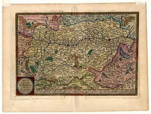 OSTERREICH-AUSTRIA-Karte-Map-Quad-M-Bussemacher-1594
