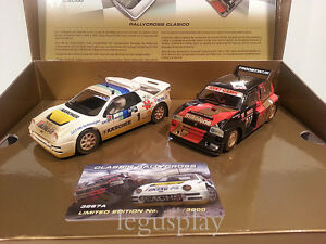 Slot-SCX-Scalextric-Superslot-H3267A-Classic-RallyCross-Ford-RS200-vs-Metro-6R4