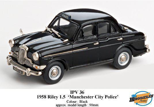 1958 RILEY 1.5 MANCHESTER CITY POLICE Brooklyn noir 1 43