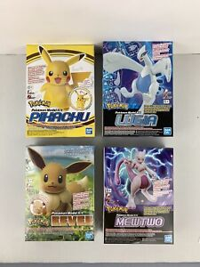 Bandai Pokemon Mewtwo Model Kit Pikachu Model Kit Eevee Lugia Model Kit 4pcs