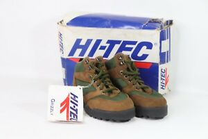 Vintage-90s-New-Hi-Tec-Youth-1-Grizzly-Suede-Leather-Outdoor-Trail-Hiking-Boots