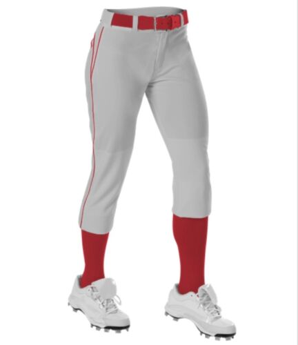 Alleson 625PBW Women/'s Softball Fastpitch Pants with Piping and Belt Loops