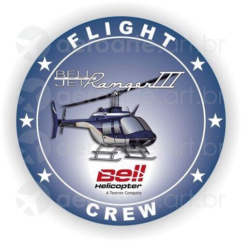 Bell Jet Ranger III aircraft round sticker