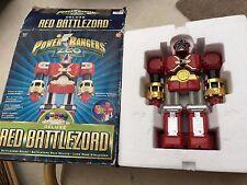 POWER Rangers Zeo Red battlezord-RARE giocattolo con Casco-molto vecchio giocattolo retrò