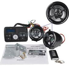 Motor Handlebar Audio Speaker USB SD FM Radio Stereo Amplifier MP3 Skull