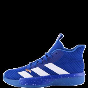 Details zu Adidas pro Next 2019 Blau Herren Basketballschuhe Mid Top Leder Sneakers