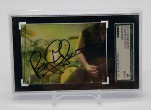 Roger Glover Deep Purple Signed Cut Autograph Card SGC Certified Slab Rock Star