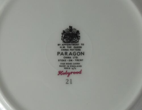 Marks paragon china Efineantiques Fine