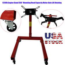1250lb Engine Stand 360 Degree Mounting Head Capacity Motor Auto Lift Rotating