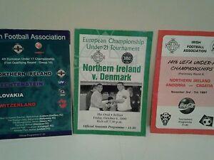 3 Nothen ireland football  programmes - Downpatrick, United Kingdom - 3 Nothen ireland football  programmes - Downpatrick, United Kingdom