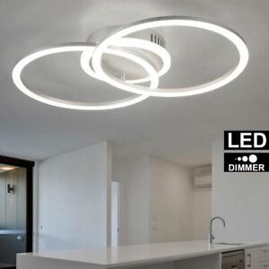 Design Decken LED Lampe Leuchte Ringe Kronleuchter Luxus-Beleuchtung Wohn Zimmer