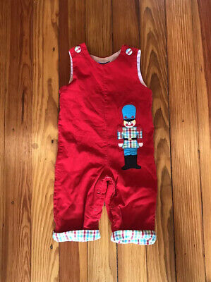 NWT Christmas Reindeer Applique on Solid Red Longall by The Smocked Shop!