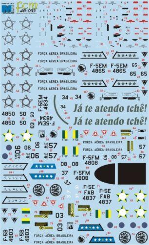 fcm48033// FCM Decals TOPP DECALS 1//48 Brasilien Northrop F-5B // E // F