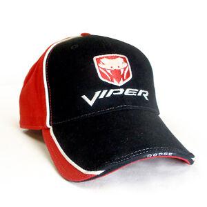 Image is loading Dodge-Viper-Logo-Red-amp-Black-Baseball-Hat 27145913cb05