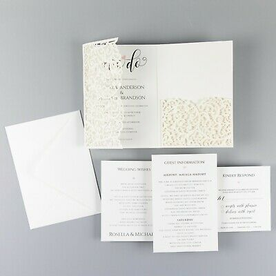 Diy Pocketfold Wedding Invitation Free